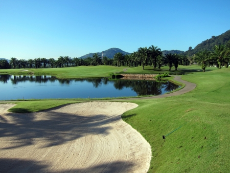 country club: Loch Palm golf course, Phuket Stock Photo