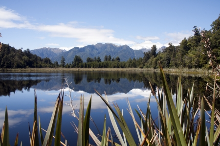 Lake Matheson, South Island, New Zealand photo