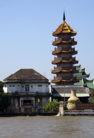 phraya: Torre china, R�o Chao Phraya, Bangkok