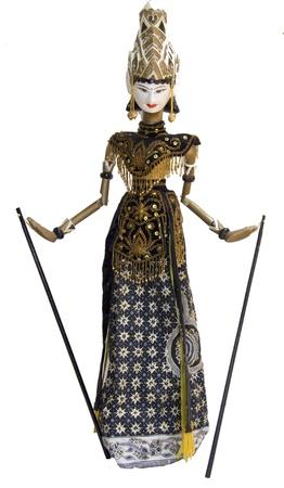 marioneta de madera: Indonesia Wayang Golek marioneta mu�eca