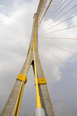 viii: Architectural detail of the iconic Rama VIII bridge in Bangkok