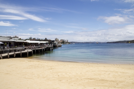 nsw: Manly Cove and wharf, Sydney, NSW, Australia