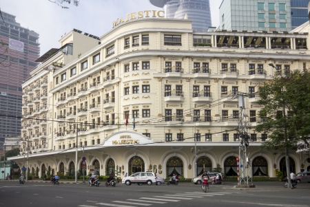 state owned: HO CHI MINH CITY, VIETNAM-NOV 3RD: The Hotel Majestic on November 3rd 2013. The Majestic was built in 1925 and is a 5 star hotel run by the state owned Saigon Tourist.