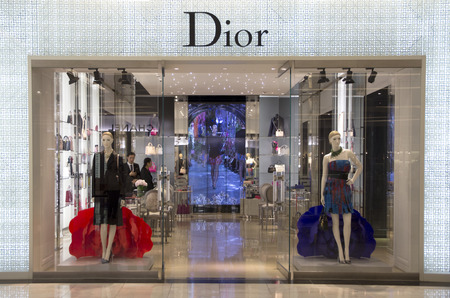 emporium: Bangkok, Thailand-May 12th 2014: The Christian Dior store in the Emporium  Mall. Dior is one of many luxury brands to be found in this and other malls in Bangkok.