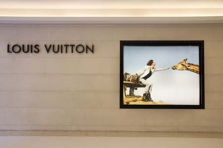 vuitton: Bangkok, Thailand-May 1st 2014. The Louis Vuitton store in the Embassy Shopping Mall. The Embassy is the latest high end shopping mall in Bangkok.
