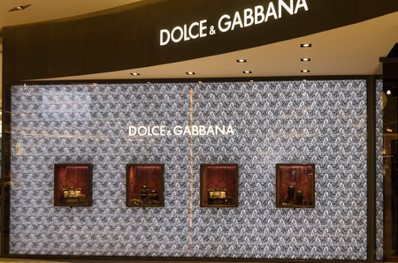paragon: Bangkok, Thailand-Nov 25th 2014: Dolce & Gabbana store in Siam Paragon Mall. The mall is home to many designer labels.