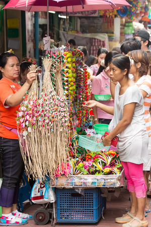Bangkok, Thailand-Sep 17th 2012: Shopping in Chinatown. The area is one of the oldest parts of Bangkok.