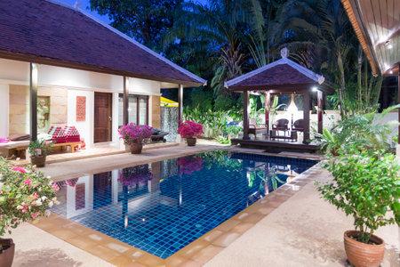 Beautiful luxury villa with swimming pool in Phuket, Thailand