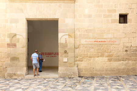 31st: Malaga, Spain-August 31st 2015:Entrance to the Picasso museum Picasso was one of Spain;s most famous painters.