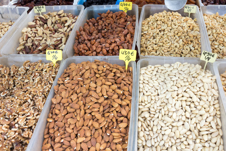 trays: Trays of nuts
