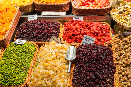 spice: Dried and candy fruit in the Spice Market, Istanbul, Turkey