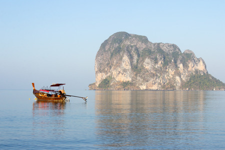 long tail: Long tail boat at Pak Meng, Trang Province, Thailand in the late afternoon