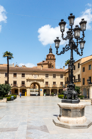 Guadix, Spain-12th June 2018: The Plaza de las Palomas. Also know as Plaza de la Constitución built 16th - 17th centuries