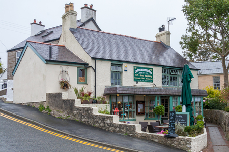 Moelfre, Anglesey, UK - Spetember 22nd 2010: Anns pantry, cafe, restaurant. The cafe has been a favourite for many years. 新聞圖片