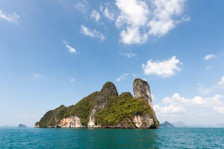Limestone cliffs on Koh Phanak, Phang Nga Bay, Phuket, Thailand