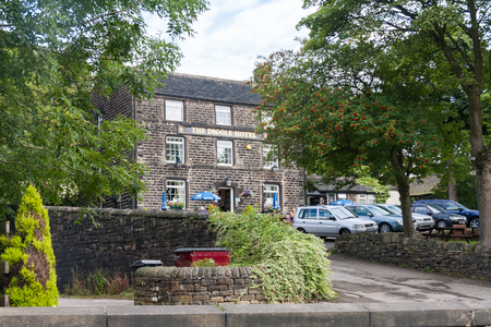 DIGGLE, ENGLAND - Aug 19TH: The Diggle Hotel public house. The pub is a free house not tied to a brewery. Editorial