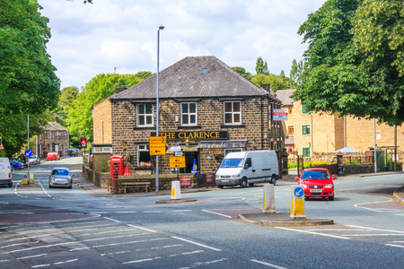 Greenfield, England - August 9th 2011: The Clarence public house. The pub is a free house and not tied to a brewery.