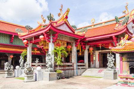 Templo y santuario chino de Jui Tui, antigua ciudad de Phuket, Tailandia