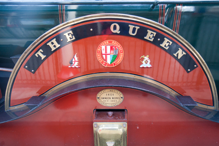 Windsor, UK - August 25th 2011: The Great Western Railway Company  locomotive The Queen. It was  built in 1894 at Swindon works.