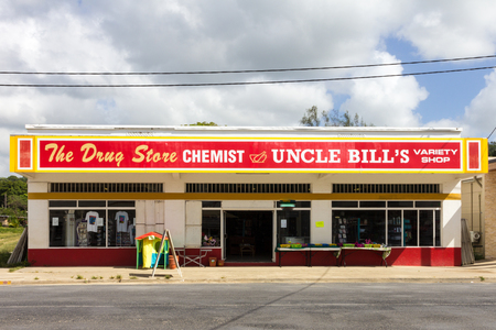 Luganville,  Vanuatu - January 11th 2014: Uncle Bills shop. Many stores sell many differetn goods.