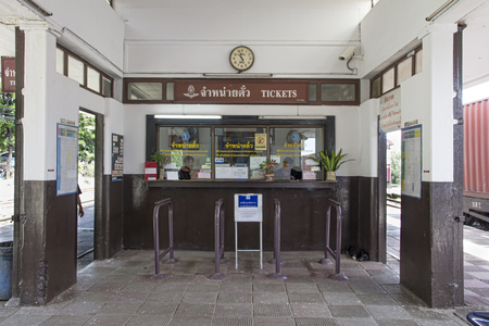 Bang Sue, Thailand-September 23rd 2014. Ticket office in Bang Sue railway station. The station is the first major station from Bangkok heading north. Editorial