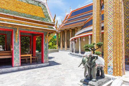 Elephant statue in Wat Ratchabophit Sathitmahasimaram Ratchaworawihan, Bangkok, Thailand
