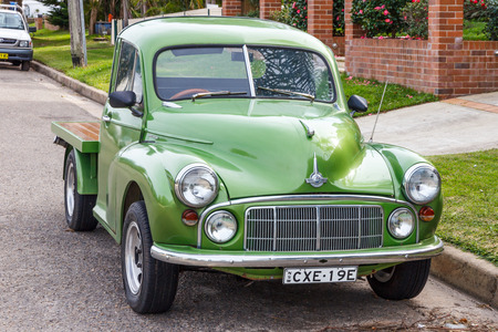 Classic Morris Minor conversion to a flatbed truck