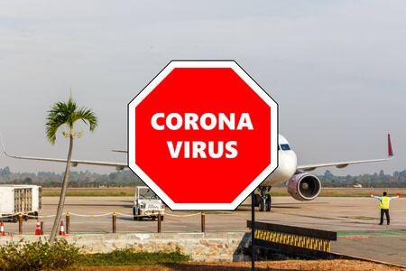Stop sign with Coronavirus overlaying photo