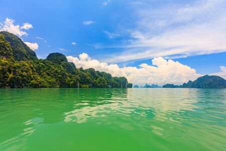 Green waters of Phang Nga Bay, Phuket, Thailand