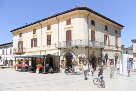 The Piazza san Benedetto in Norcia, Umbria, Italy. The town has been badly hit by earthquakes in 2016, the latest of which on October 30th has destroyed more precious buildings.