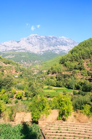 View of a valley in the Taurus mountains, Alanya, Turkey