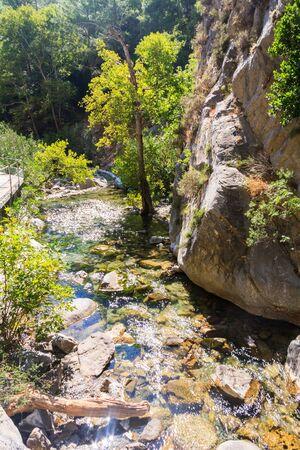 River through Sapadere Canyon, Alanya, Turkey