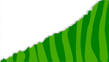 Watermeloenontwerp, strepen met verschillende schaduwen van groene, randloze illustratie.