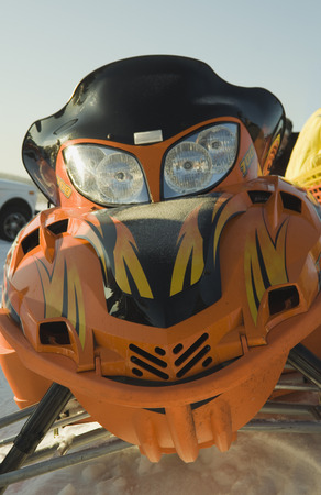 Sports snowmobile. Stock Photo