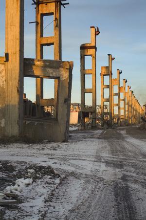 Ruined industrial building.