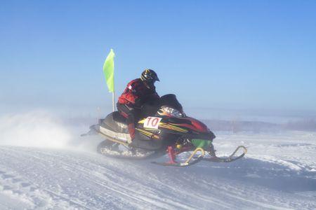 Arctic snowmobile racing