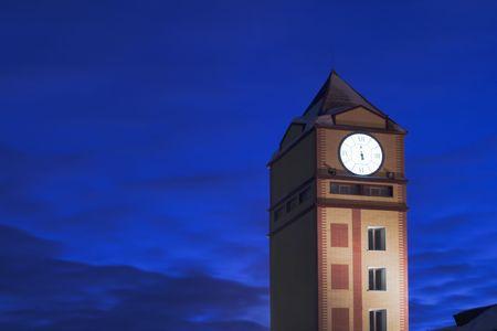 night tower clock.