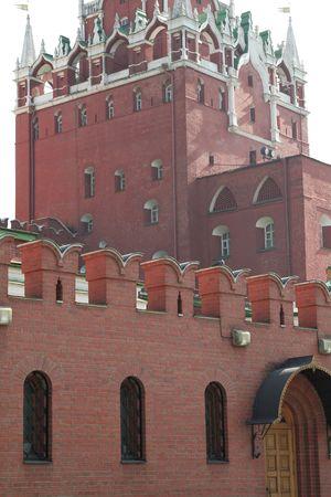 Close up of The Kremlin behind the Kremlin Wall.