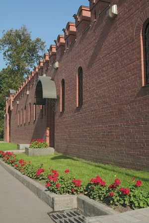 The Kremlin Wall and Alexanders Garden, Moscow,Russia.