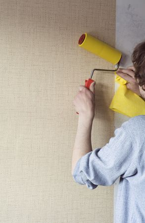 building repairs, decoration with wallpaper. Stock Photo - 2689921