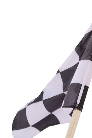 A close up of isolated sports chequered flag