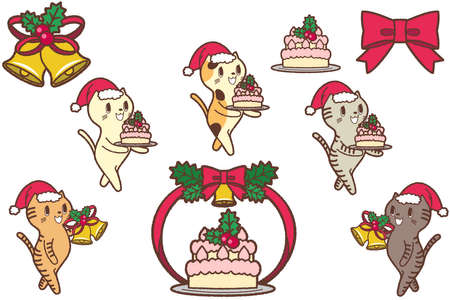 Christmas Cats and Decorations 写真素材 - 156329952