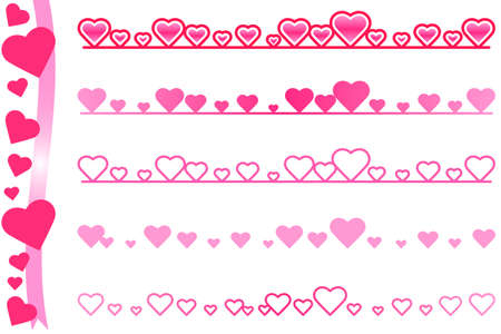 Heartline_Pink  イラスト・ベクター素材