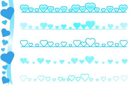 Heartline_Blue System 写真素材 - 161215369
