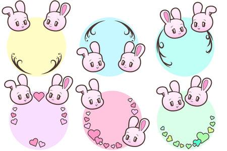 Retro Animals_Rabbits and Hearts