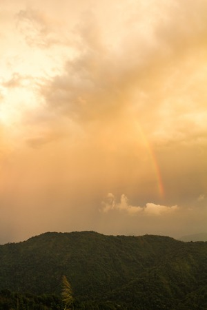 Rainbow with Storm Cloud photo