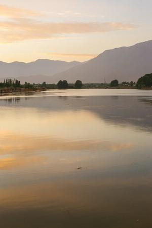 Lake with mountain photo