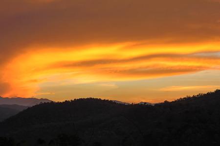 flaming cloud photo