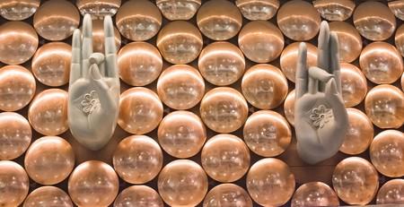 stucco: Stucco artwork adorns Stock Photo