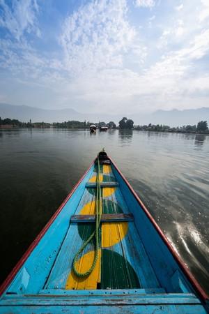 kashmir: Boats in Lake Dal Kashmir India Stock Photo